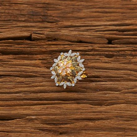 53320 CZ Classic Ring with 2 tone plating
