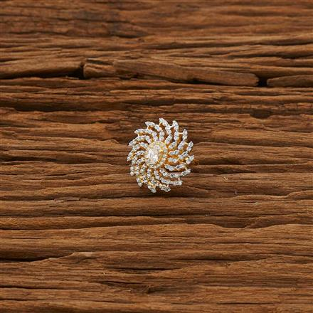 53321 CZ Classic Ring with 2 tone plating