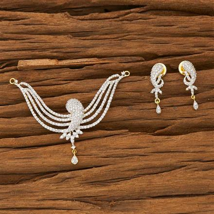 53365 CZ Classic Mangalsutra with 2 tone plating