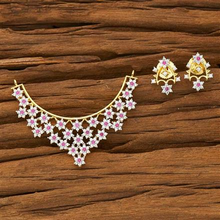 53371 CZ Classic Mangalsutra with 2 tone plating
