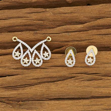 53377 CZ Classic Mangalsutra with 2 tone plating