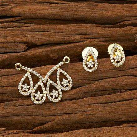 53378 CZ Classic Mangalsutra with gold plating