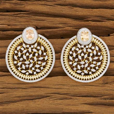 53383 CZ Classic Earring with 2 tone plating