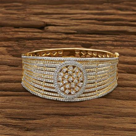 53398 CZ Broad Kada with 2 tone plating