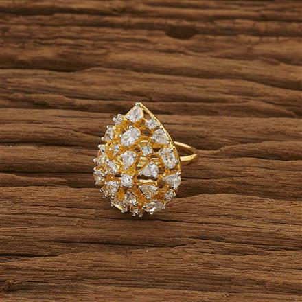 53406 CZ Classic Ring with gold plating