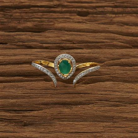 53407 CZ Classic Ring with 2 tone plating