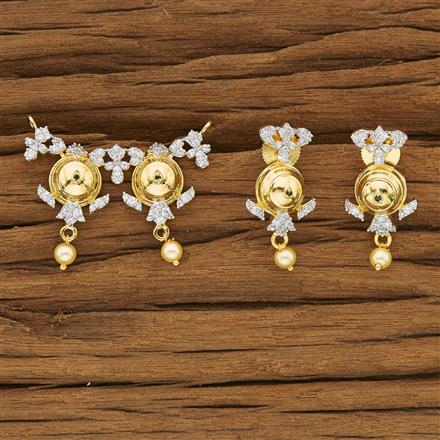 53435 CZ Classic Mangalsutra with 2 tone plating