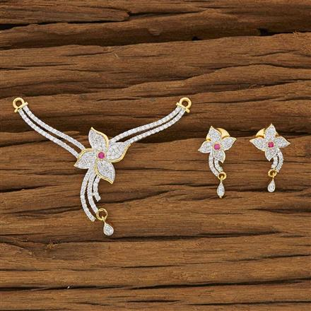 53437 CZ Classic Mangalsutra with 2 tone plating