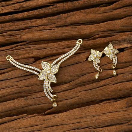 53438 CZ Classic Mangalsutra with gold plating