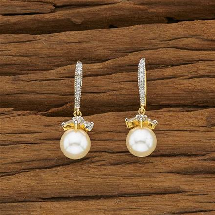 53452 CZ Delicate Earring with 2 tone plating