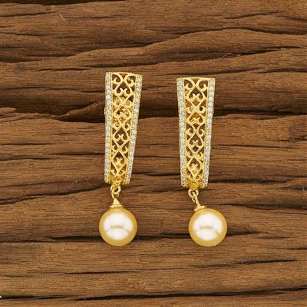 53455 CZ Short Earring with gold plating