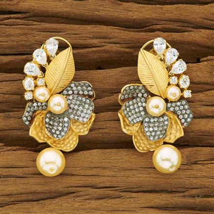53456 CZ Classic Earring with gold plating