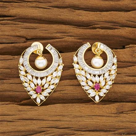 53460 CZ Classic Earring with gold plating