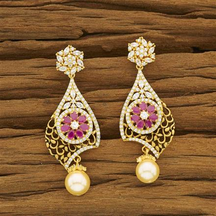 53461 CZ Classic Earring with gold plating