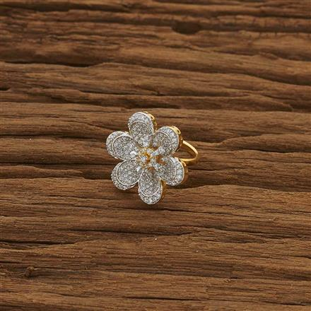 53479 CZ Classic Ring with 2 tone plating
