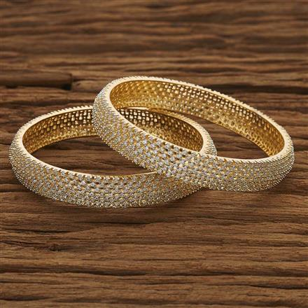 53488 CZ Classic Bangles with 2 tone plating