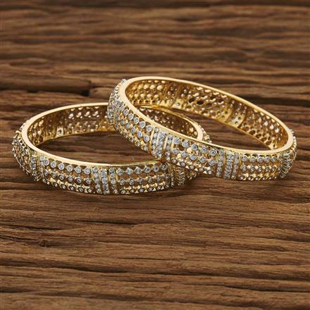 53489 CZ Classic Bangles with 2 tone plating