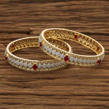 53492 CZ Classic Bangles with 2 tone plating