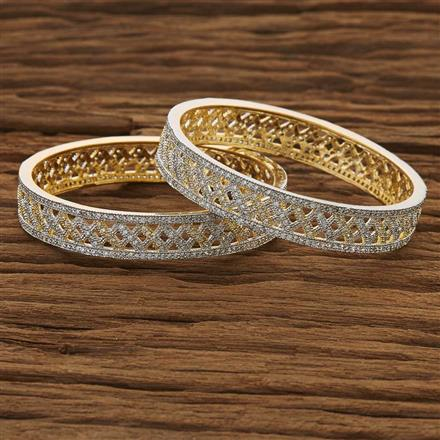 53494 CZ Classic Bangles with 2 tone plating