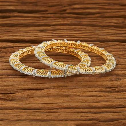 53555 CZ Classic Bangles with 2 tone plating