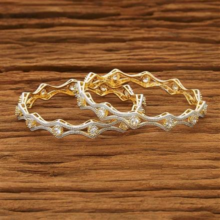 53556 CZ Classic Bangles with 2 tone plating