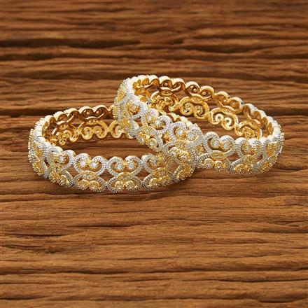 53558 CZ Classic Bangles with 2 tone plating