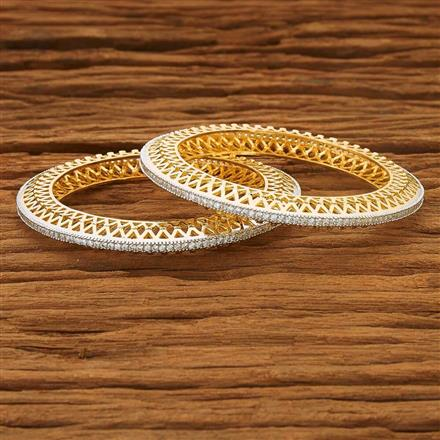 53559 CZ Classic Bangles with 2 tone plating