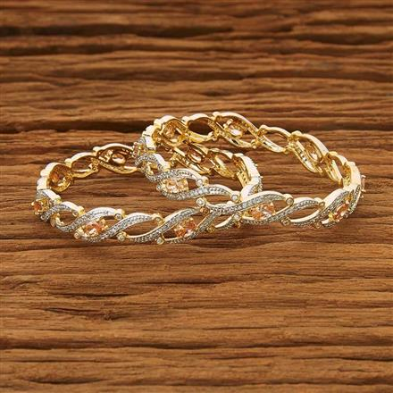 53562 CZ Classic Bangles with 2 tone plating