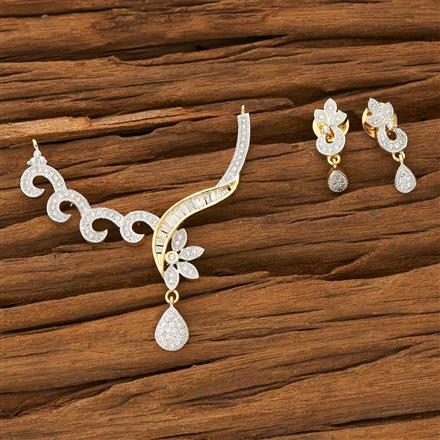 53568 CZ Classic Mangalsutra with 2 tone plating