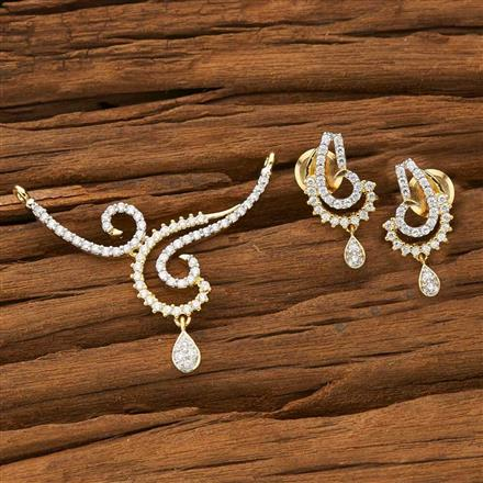 53569 CZ Classic Mangalsutra with 2 tone plating