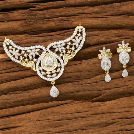 53572 CZ Classic Mangalsutra with 2 tone plating