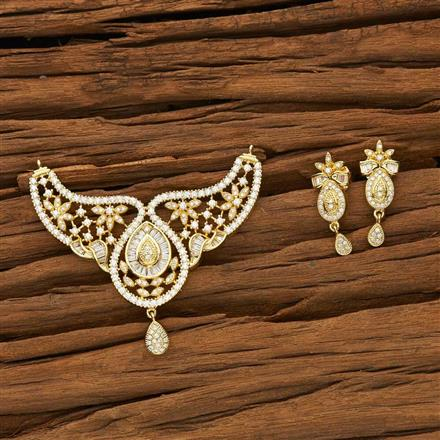 53573 CZ Classic Mangalsutra with gold plating