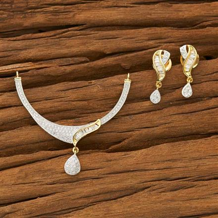 53574 CZ Classic Mangalsutra with 2 tone plating
