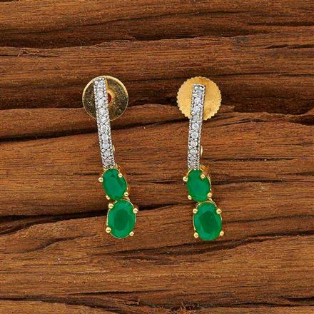 53591 CZ Delicate Earring with 2 tone plating