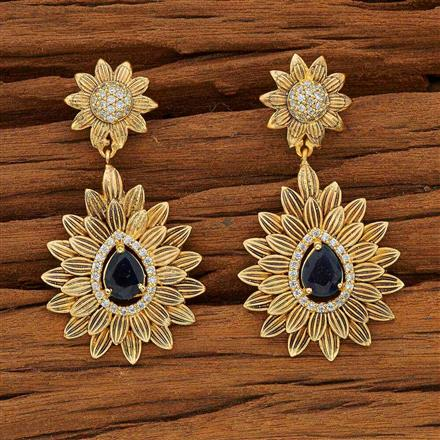 53596 CZ Classic Earring with gold plating