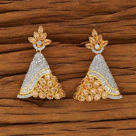 53601 CZ Classic Earring with 2 tone plating