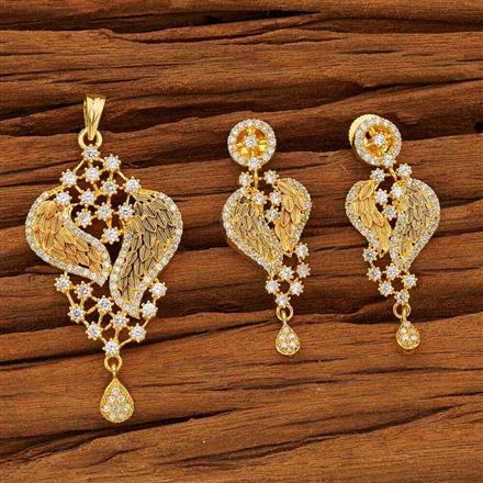 53603 CZ Classic Pendant Set with gold plating