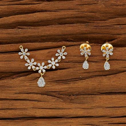 53633 CZ Classic Mangalsutra with 2 tone plating