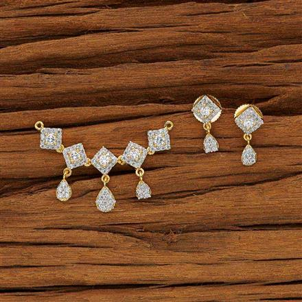 53634 CZ Classic Mangalsutra with 2 tone plating