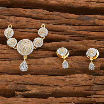 53635 CZ Classic Mangalsutra with 2 tone plating