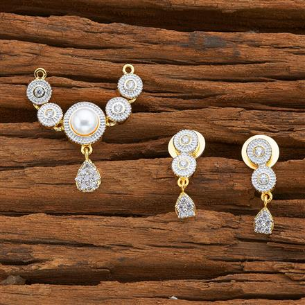 53636 CZ Classic Mangalsutra with 2 tone plating