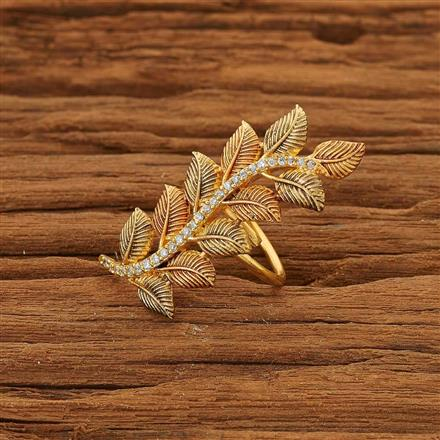 53659 CZ Classic Ring with gold plating