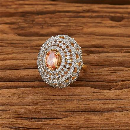 53661 CZ Classic Ring with 2 tone plating