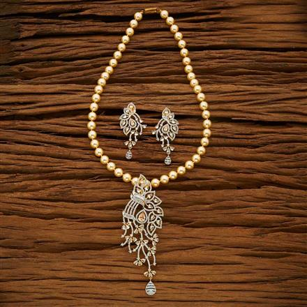 53663 CZ Mala Necklace with 2 tone plating