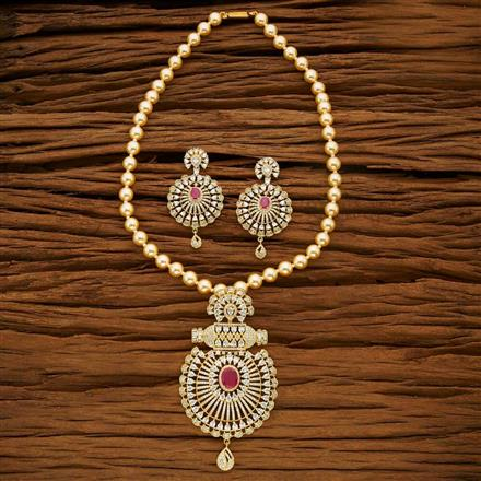 53664 CZ Mala Necklace with gold plating