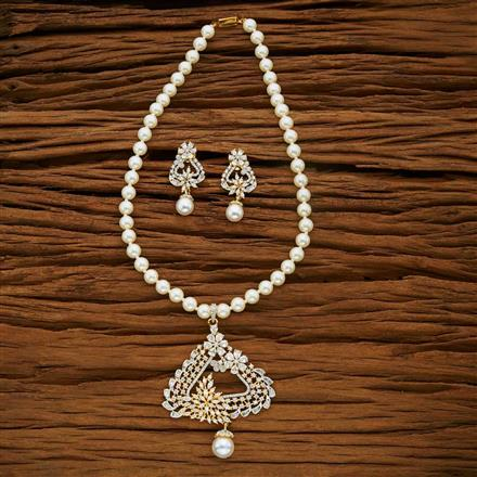 53665 CZ Mala Necklace with 2 tone plating
