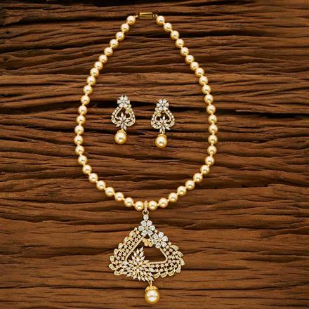 53666 CZ Mala Necklace with gold plating