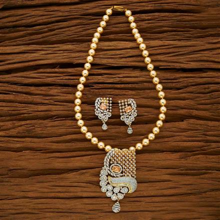 53667 CZ Mala Necklace with 2 tone plating
