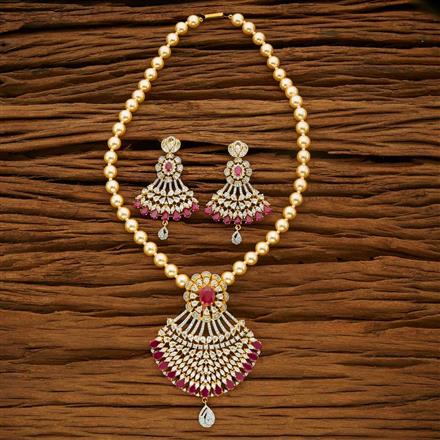 53668 CZ Mala Necklace with 2 tone plating