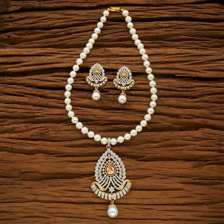 53671 CZ Mala Necklace with 2 tone plating